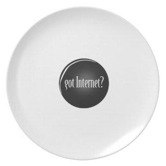 """""""Erhielt Internet"""", Internet, Text erhaltenes Teller"""