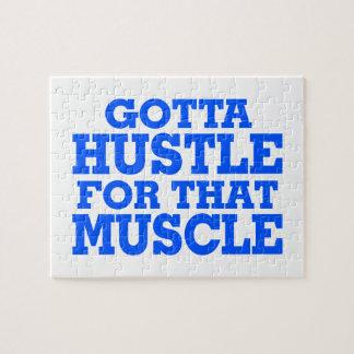 Erhielt, sich für dieses Muskel-Blau zu drängen Puzzle