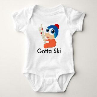 Erhielt, Ski zu fahren Baby-Strampler Baby Strampler