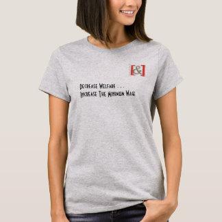 Erhöhen Sie das Shirt der Mindestlohn-Frauen -