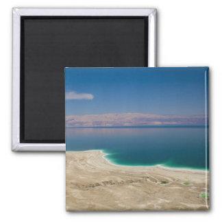 Erhöhte Ansicht des Toten Meers Quadratischer Magnet