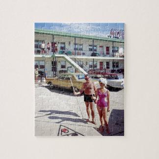 Erholungs-Bucht-Motel in den sechziger Jahren Puzzle