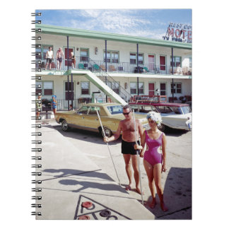 Erholungs-Bucht-Motel in den sechziger Jahren Spiral Notizblock