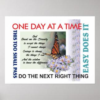 Erholungsslogans Poster