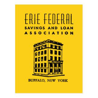 Erie-bundesstaatliches Spar- und Darlehens Postkarte