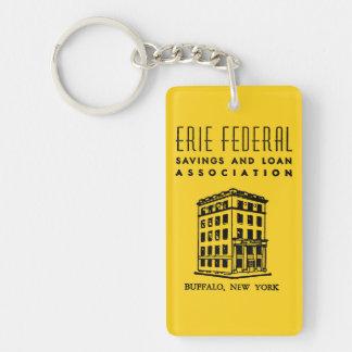 Erie-bundesstaatliches Spar- und Darlehens Beidseitiger Rechteckiger Acryl Schlüsselanhänger