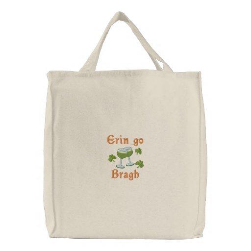 Erin gehen Bragh Bestickte Einkaufstasche
