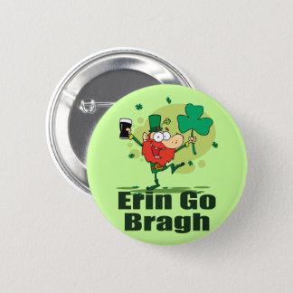 Erin gehen Bragh Kobold mit Stout Runder Button 5,7 Cm