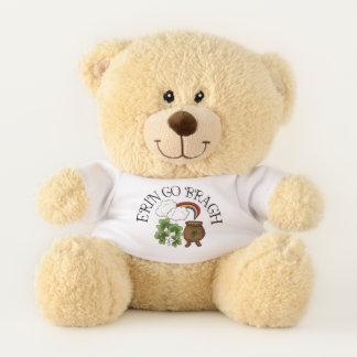 Erin gehen Bragh Regenbogen-Topf GoldKleeblätter Teddybär