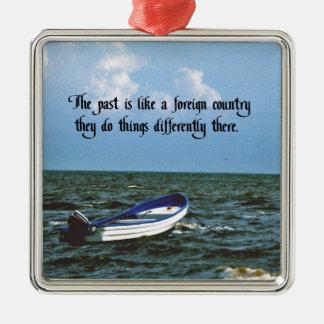 Erinnern an das letzte inspirierend Zitat Silbernes Ornament