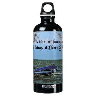 Erinnern an das letzte inspirierend Zitat Wasserflasche