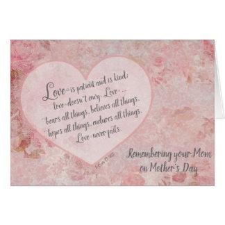 Erinnern an Ihre Mamma auf Schrift der Mutter Karte