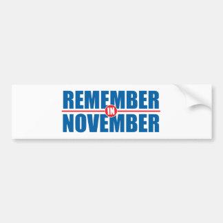 Erinnern-in-Nov. Autoaufkleber