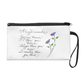 Erinnern Sie immer sich an inspirierend Wristlet Handtasche