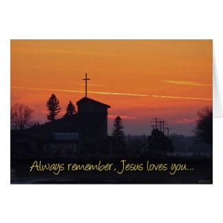 Erinnern Sie immer sich an Jesus-Lieben Sie Karte