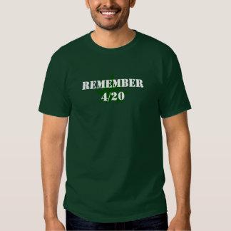 Erinnern Sie sich an 4/20 T-shirt