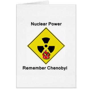 Erinnern Sie sich Chenobyl an nukleares Antilogo Karte