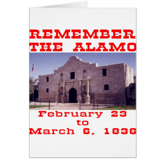 Erinnern Sie sich das an Alamo #001 Karte