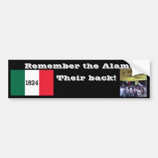 Erinnern Sie sich das an Alamo! Autoaufkleber