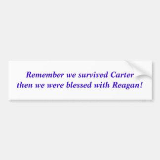 Erinnern Sie sich, dass wir Carter überlebten, Autoaufkleber