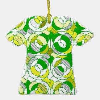 erinnern Sie sich den an 70er, grünes Muster Ornamente