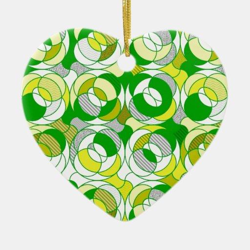 erinnern Sie sich den an 70er, grünes Muster Weihnachtsornament
