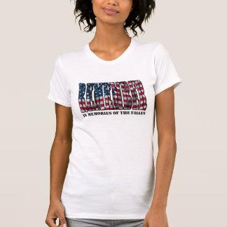 Erinnern Sie sich den an gefallenen T - Shirt