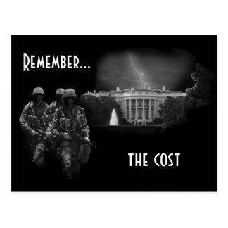 Erinnern Sie sich… die an Kosten Postkarte