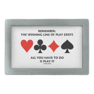 Erinnern Sie sich: Die gewinnende Linie des Spiels Rechteckige Gürtelschnalle