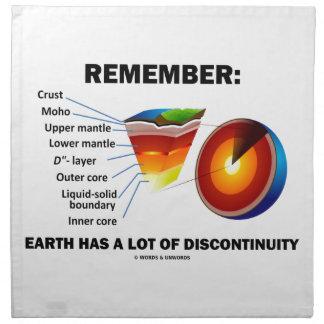 Erinnern Sie sich: Erde hat viel Unstimmigkeit Stoffserviette