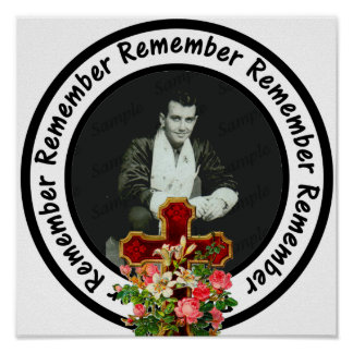Erinnern Sie sich liebte einen Rahmen-Kreis Poster