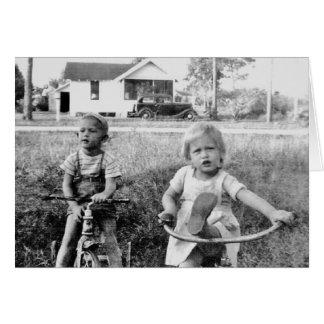 Erinnern Sie sich wenn - Kinder auf Dreirädern Karte