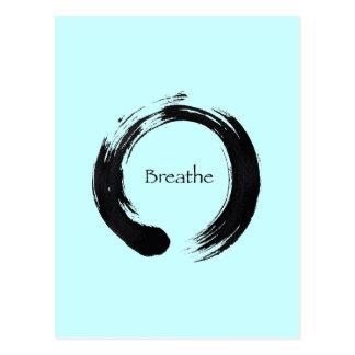 Erinnern Sie sich zu atmen! Postkarte
