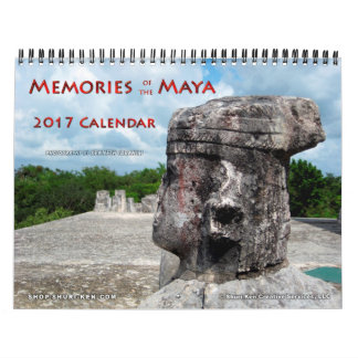 Erinnerungen des Maya-Wandkalenders Abreißkalender