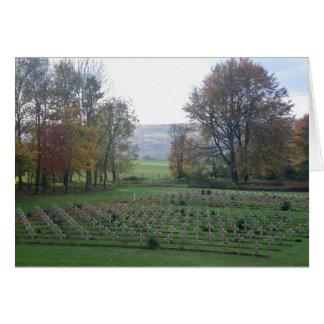 Erinnerungen von Flandern - Kriegs-Gräber, WWI Karte