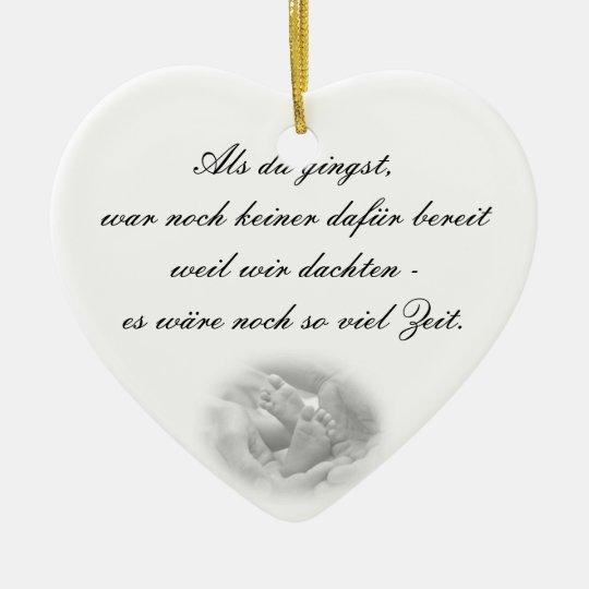 Erinnerungs Hängeornament Keramik Herz-Ornament