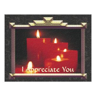 Erinnerungs-Kerzen u. Reben 21,6 X 27,9 Cm Flyer