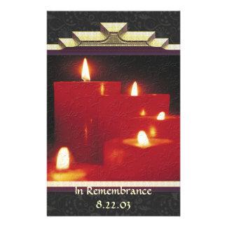 Erinnerungs-Kerzen u. Reben Briefpapier
