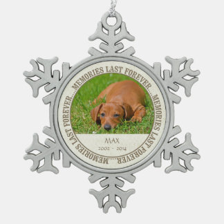 Erinnerungs- Verlust des Haustieres - Schneeflocken Zinn-Ornament