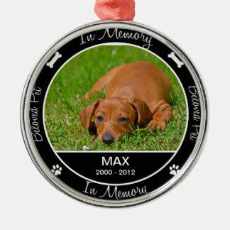 Erinnerungs - Verlust des Hundedes Silbernes Ornament