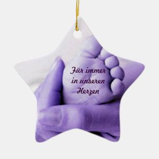 Erinnerungsdekoration Keramik Stern-Ornament