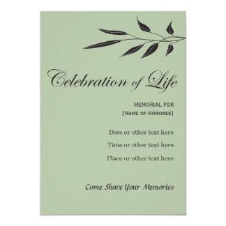 Erinnerungsfeier des Leben-eleganten Baums Karte