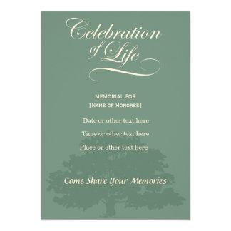 Erinnerungsfeier von Leben-Eichen-Salbei Karte
