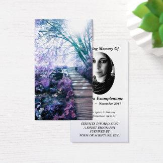 Erinnerungskarte verzauberter Weg Visitenkarte