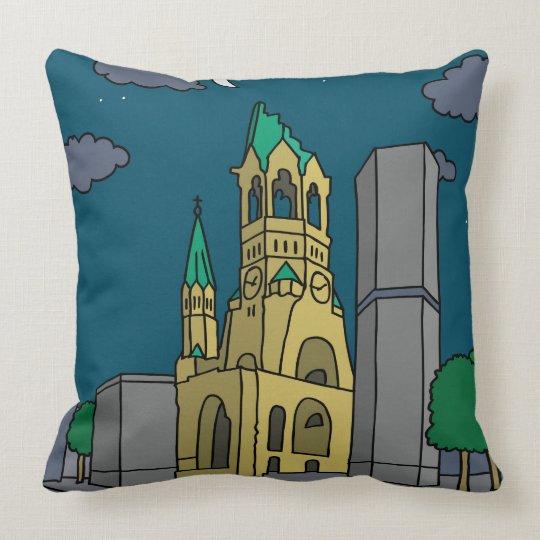 Erinnerungskirche Berlin (Gedächtniskirche) nachts Kissen