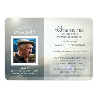 Erinnerungsservice laden friedliche Wolken-blaues 12,7 X 17,8 Cm Einladungskarte