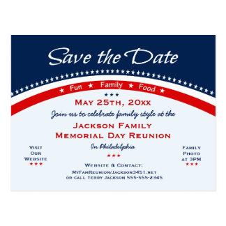 Erinnerungstagesfamilien-Wiedersehen, Party, Save Postkarte