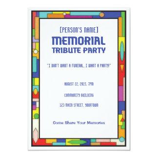 Erinnerungstribut-Begräbnis-Party Einladung