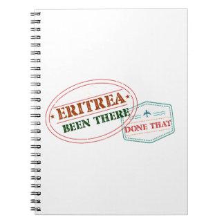 Eritrea dort getan dem spiral notizblock