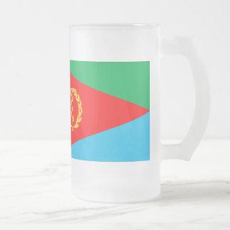 Eritrea-Flagge Mattglas Bierglas